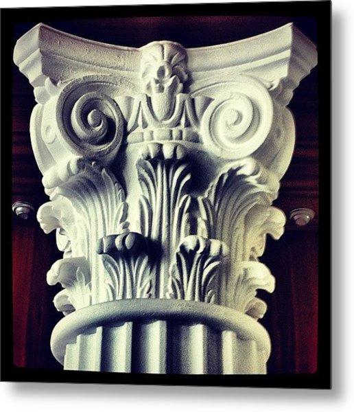 #details Of A Decorational #pillar Metal Print