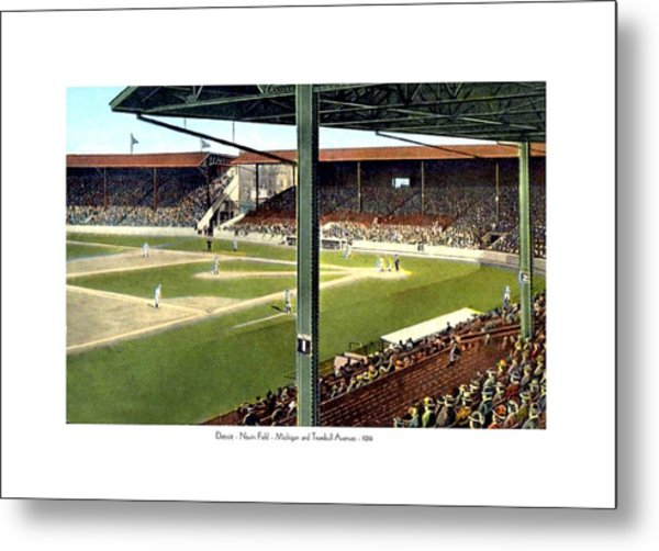 Detroit - Navin Field - Detroit Tigers - Michigan And Trumbull Avenues - 1914 Metal Print