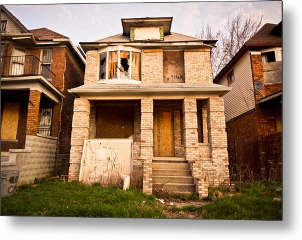 Metal Print featuring the photograph Detroit Neighborhood by Priya Ghose