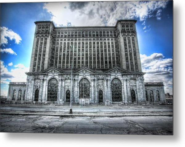 Detroit's Abandoned Michigan Central Train Station Depot Metal Print