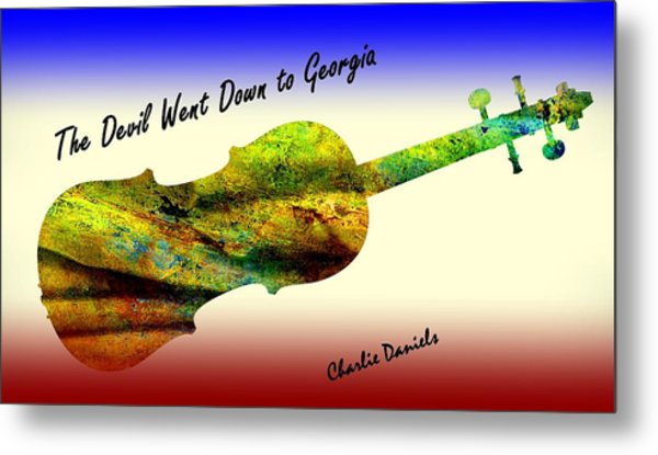 Devil Went Down To Georgia Daniels Fiddle  Metal Print