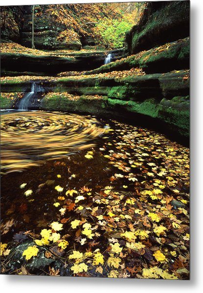 Devil's Bathtub Metal Print