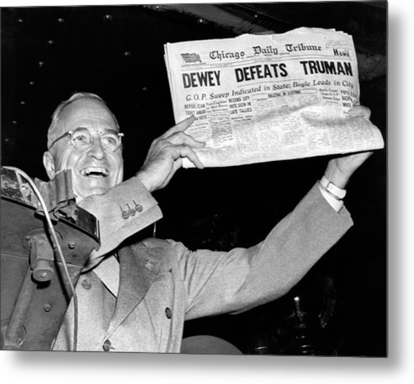 Dewey Defeats Truman Newspaper Metal Print