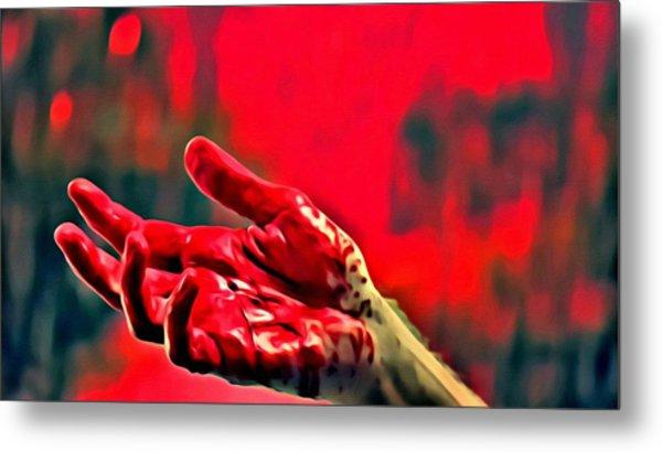 Dexter Bloody Hand Metal Print