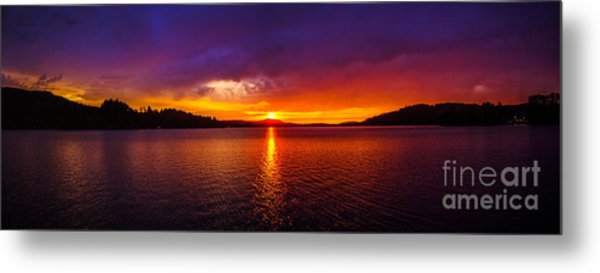 Dexter Lake Oregon Sunset 2 Metal Print