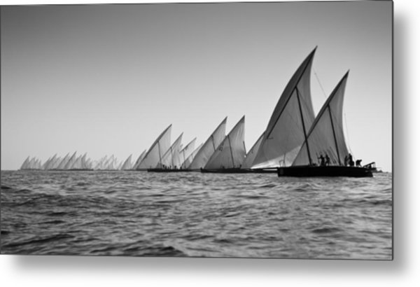 Dhow Race Start Metal Print by Chris Cameron
