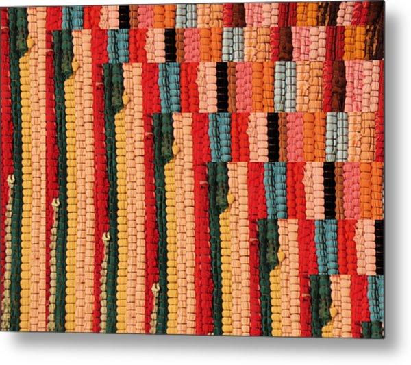 Dhurri Rug Abstracted Metal Print