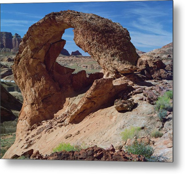 Diagenetic Arch-h Metal Print