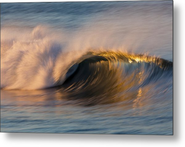Diagonal Blur Wave 73a8081 Metal Print