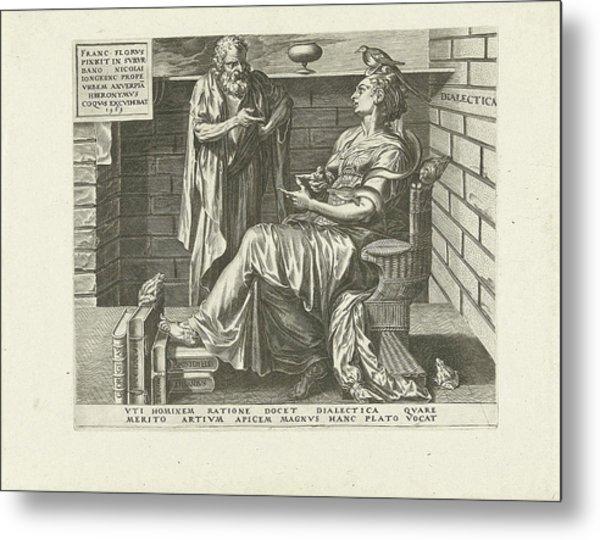Dialectic Reasoning Art, Cornelis Cort Metal Print