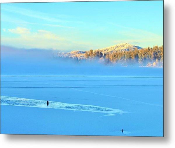 Diamond Lake Frozen Metal Print