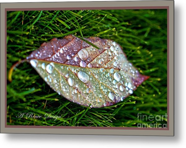 Diamond Leaf Shimmer Metal Print