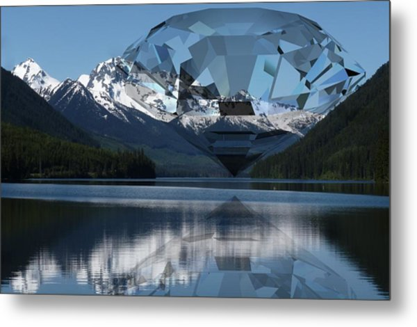 Diamonds Darling Metal Print
