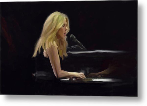 Diana Krall Metal Print by G Cannon