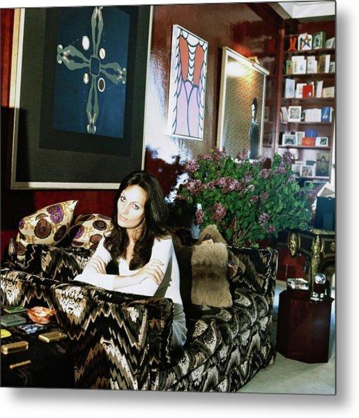 Diane Von Furstenberg At Home Metal Print by Horst P. Horst