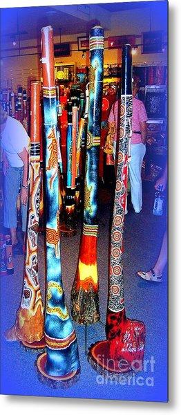 Didgeridoos For Sale Metal Print by John Potts
