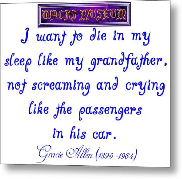 Die In My Sleep Metal Print