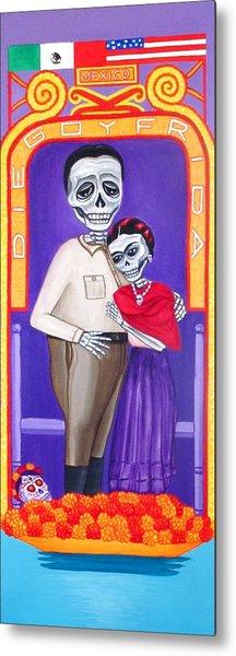 Diego Y Frida Xochimilco Metal Print