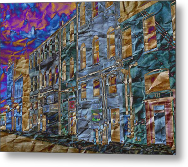 Diffraction Diffusion Metal Print by MJ Olsen