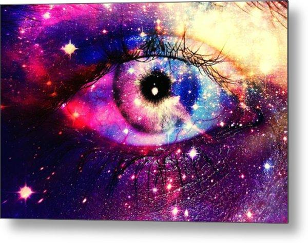 Digital Composite Image Of Human Eye Metal Print by Brielle Mcconnell / Eyeem
