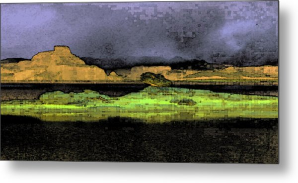 Digital Powell Metal Print