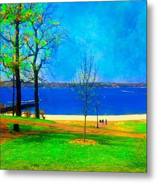 #digitalart #landscape #beach #park Metal Print