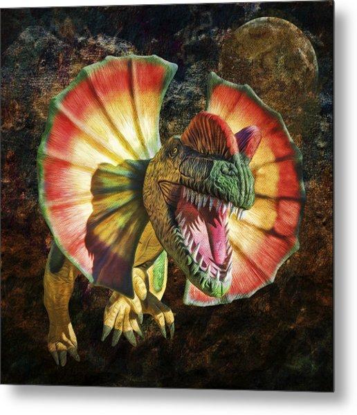 Dilophosaurus Spitting Dinosaur Metal Print