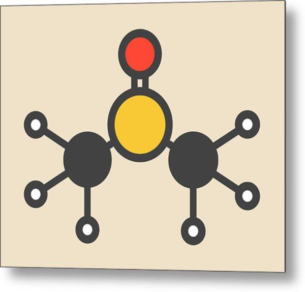 Dimethyl Sulfoxide Molecule Metal Print by Molekuul