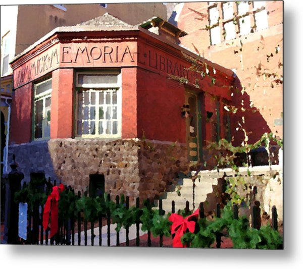 Dimmick Memorial Library In Jim Thorpe Pa - Abstract Metal Print by Jacqueline M Lewis