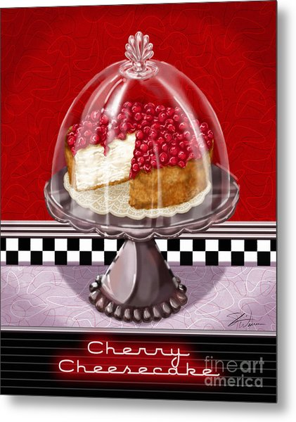 Diner Desserts - Cherry Cheesecake Metal Print