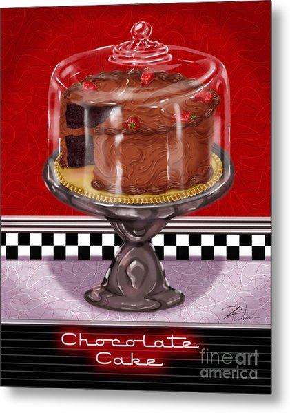 Diner Desserts - Chocolate Cake Metal Print