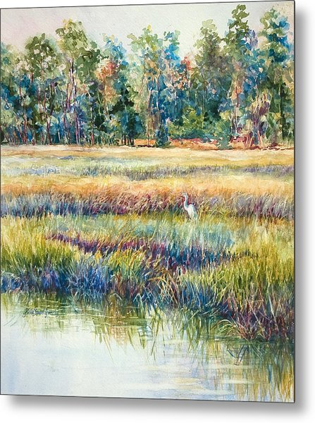 Dining Alone Metal Print by Alice Grimsley