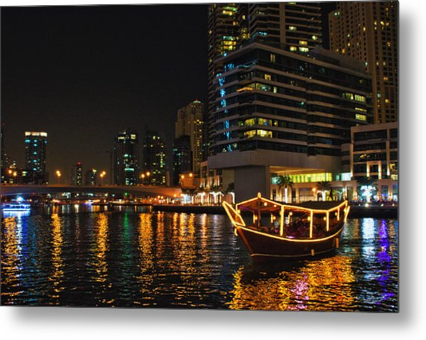 Dinner Cruise Dubai Metal Print