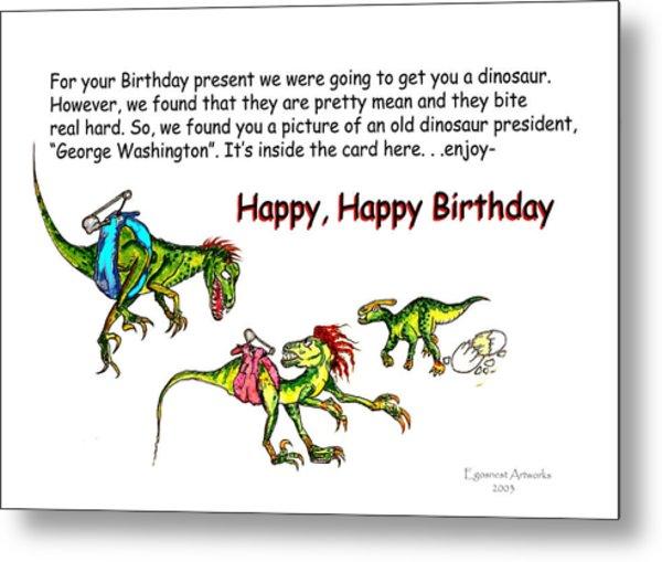 Dinosaur Kids Birthday Metal Print