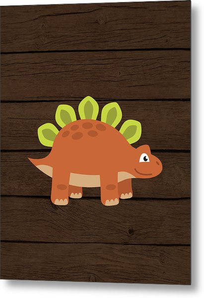 Dinosaur Wood IIi Metal Print