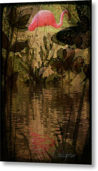 Metal Print featuring the digital art Dinosaurs Among Us by Delight Worthyn
