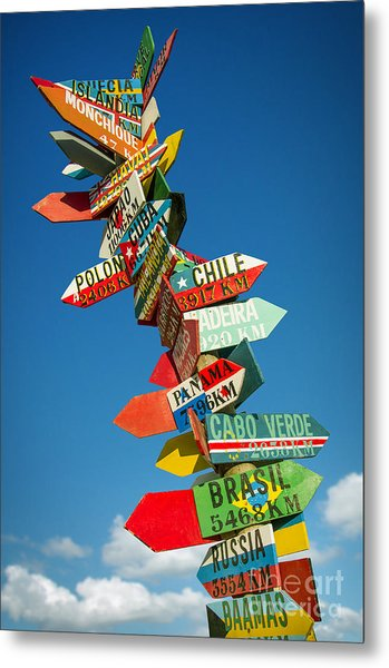 Directions Signs Metal Print