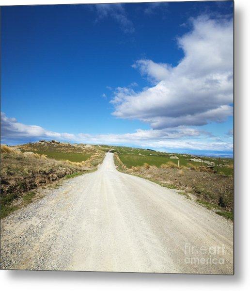 Dirt Road Otago New Zealand Metal Print