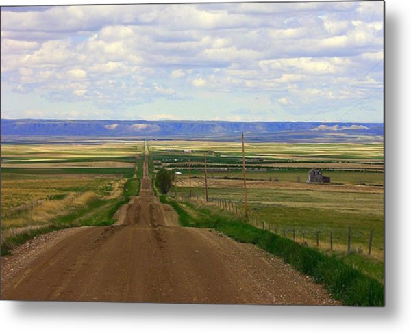 Dirt Road To Forever Metal Print
