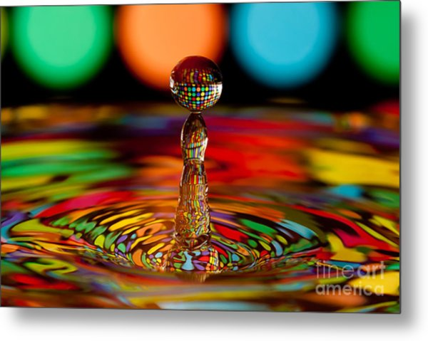 Disco Ball Drop Metal Print