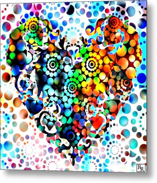 Disco Heart Metal Print