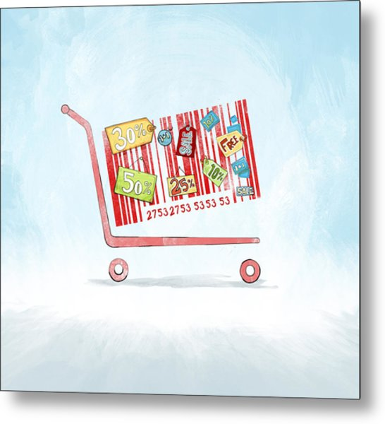 Discounted Sale Advertisement Metal Print by Fanatic Studio / Science Photo Library