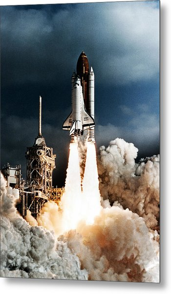 Discovery Hubble Launch Sts-31 Metal Print