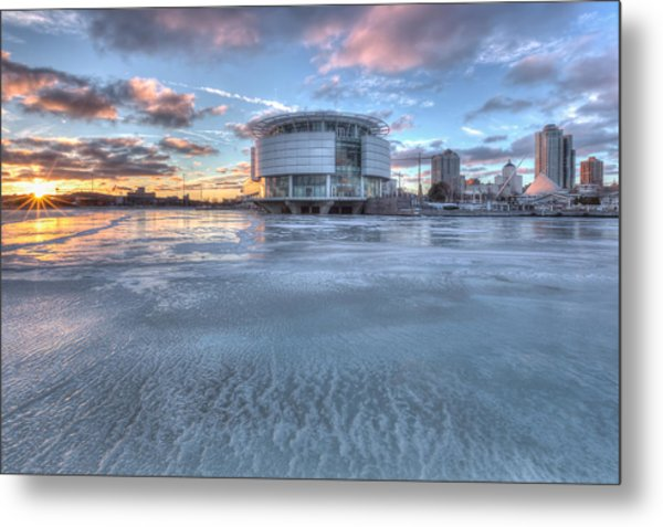 Discovery World On Ice Metal Print