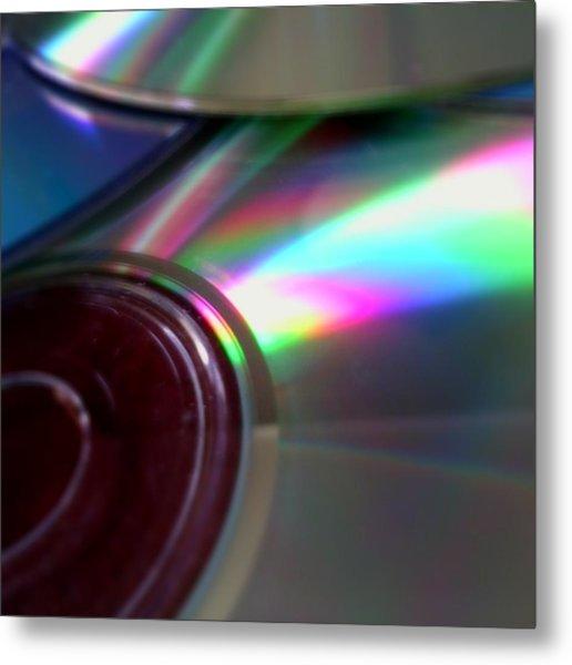 Discs On Display Metal Print by Jaime Neo