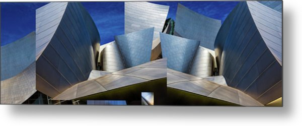 Disney Concert Hall-montage (color Version) Metal Print by Ron Jones