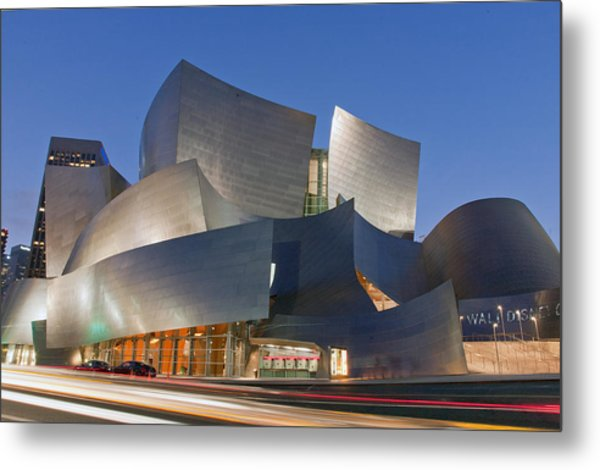 Disney Hall Metal Print