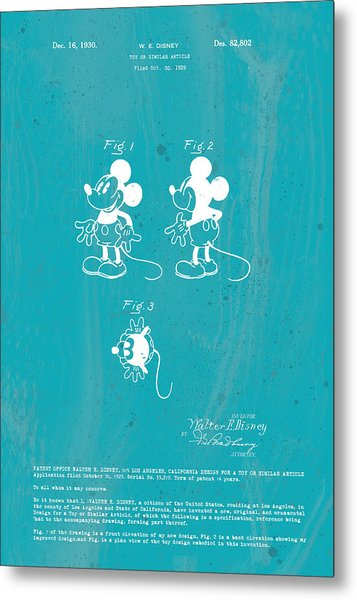 Disney Mickey Mouse Metal Print