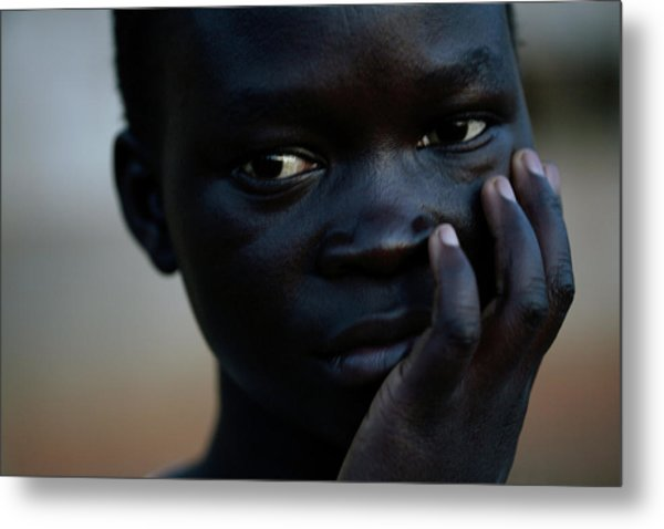 Displaced Sudanese Teenager Metal Print