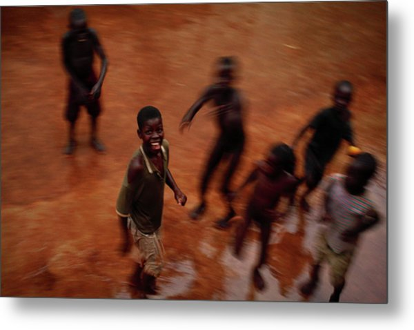 Displaced Ugandan Children Metal Print